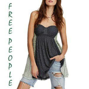 Free People Across The Sea Strapless Tunic Small